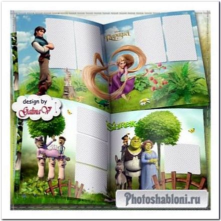 Фотокнига для детей и детского сада - Забавные мультфильмы