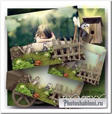 Детская рамка для фото - Сбор урожая