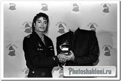 Мужской шаблон - Старинная фотография с Michael Jackson