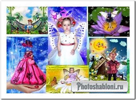 Коллекция 2 фотошаблонов для девочек