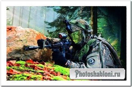 Мужской шаблон - лесной снайпер