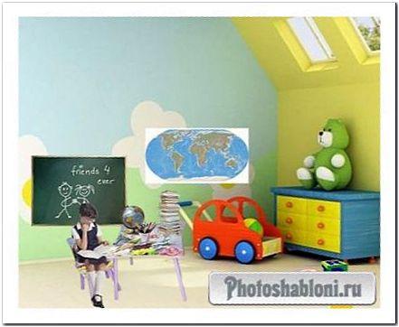 Шаблон для фото Я-школьница