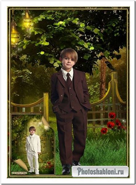 Детский шаблон для мальчика - Стильные классические костюмы