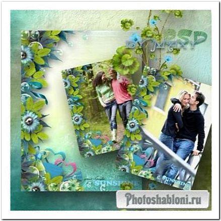 Рамка для фотошоп романтическая - Любовь и весна