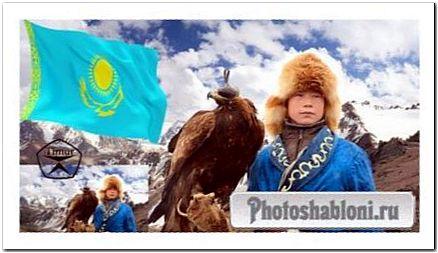 Детский шаблон для фотошопа - Сын казахского народа