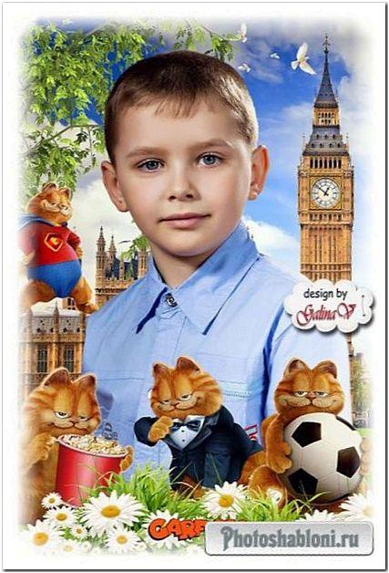 Детские фоторамки с героями мультфильмов для детского сада
