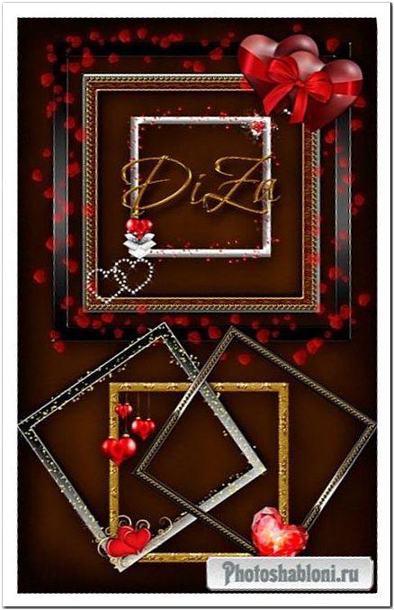 Рамки-вырезы - Для влюблённых / Love frames