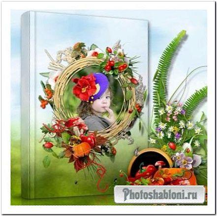 Шаблон цветочной фотокниги - Радостное лето