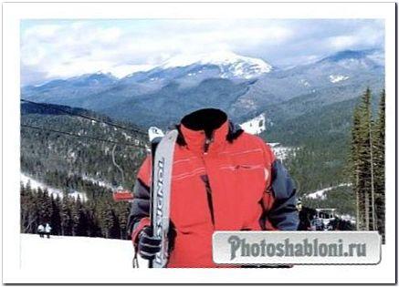 Мужской шаблон - Катание на лыжах в горах