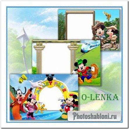 Детские фоторамки - Путешествие Микки Мауса