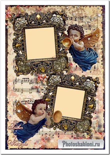 Рамка для фотошопа - Волшебная мелодия