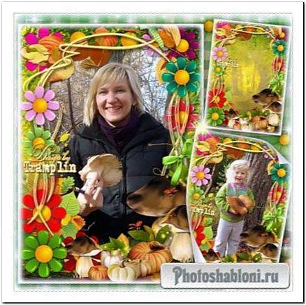 Рамка для фото - Наберу грибов я целое лукошко