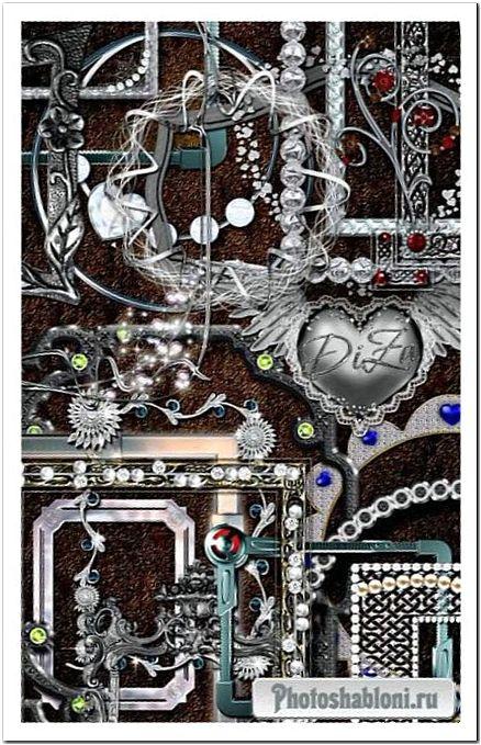 Эксклюзивная коллекция рамочек вырезов - Благородное серебро