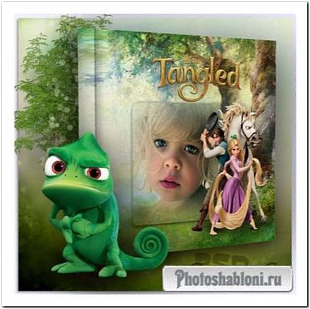 Детская фотокнига с персонажами мультфильма - Рапунцель, запутанная история