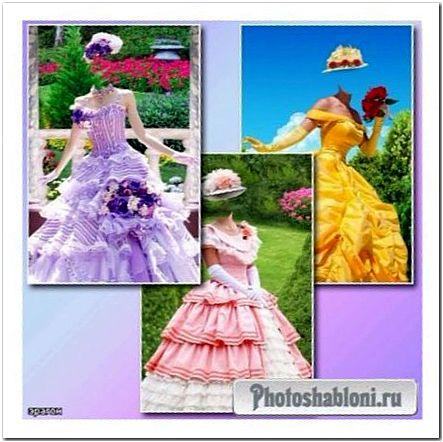 Женские шаблоны для фотомонтажа - Летние наряды