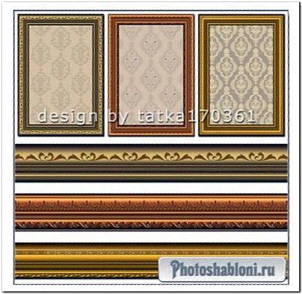Багетные рамки для фото - Классический золотой орнамент