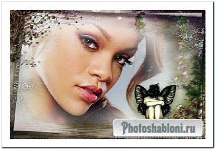Сказочная рамка для фото - Грустная фея у озера