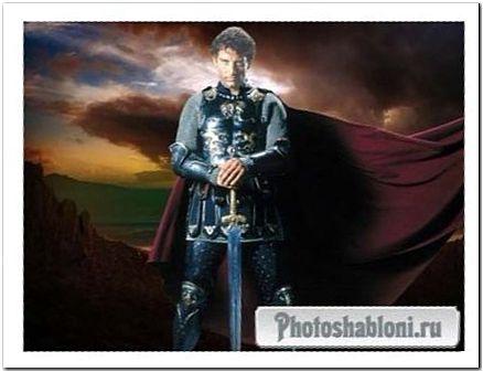 Мужской эпический шаблон для фотомонтажа - Рыцарь на века