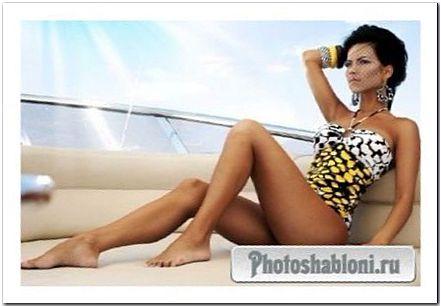Женский шаблон для фотографий - Летняя прогулка
