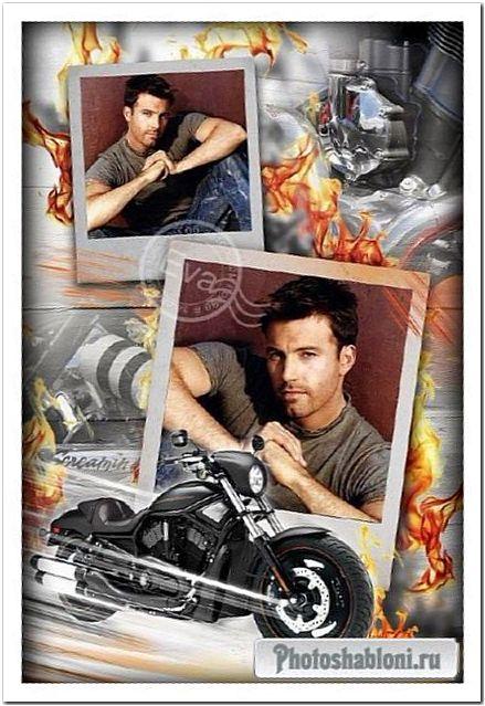 Фоторамочка - Мечта каждого мужчины - Harley Davidson