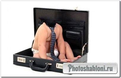 Шаблон для photoshop - Малыш предприниматель