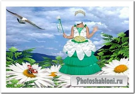 Детский шаблон для фотошопа - Принцесса цветов