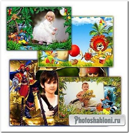 Сборник детских фоторамок - Нарисую твой портрет