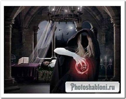 PSD шаблон - Ведьма колдует