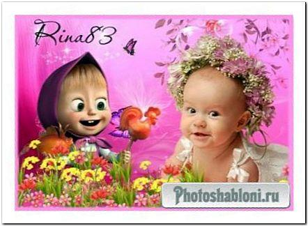 """Шаблон """" Малышка в цветах"""""""