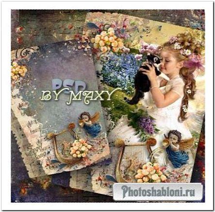 Винтажная рамка для фото - Песня ангела