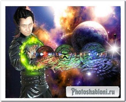 Мужской шаблон для фотошопа - Магия кунг фу