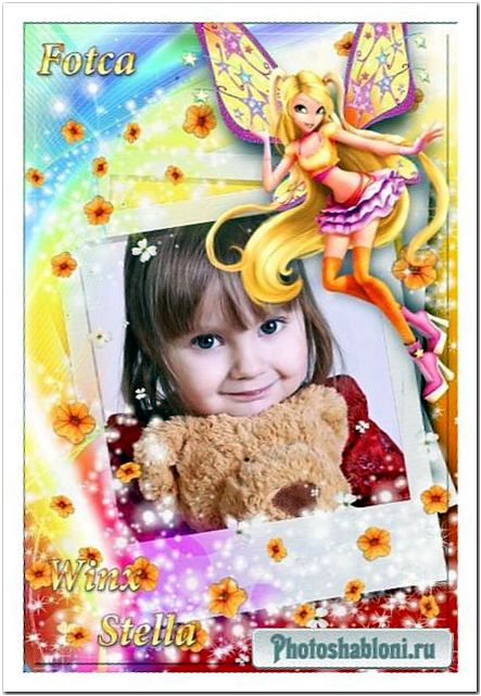 Детская рамка для фото с волшебницей Winx - Стелла