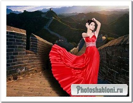 Женский шаблон - Китайская роза