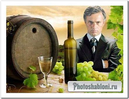 Мужской шаблон для фотошопа - Винодел