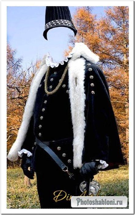 Старинный костюм 77 -шаблон фотошоп