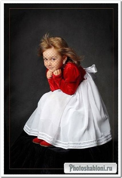 Детский шаблон для фотошопа - Художественный портрет девочки
