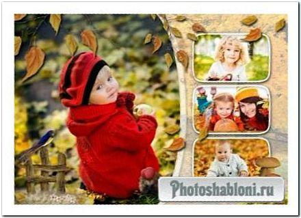 Шаблон осенней фотокниги - Осенняя симфония