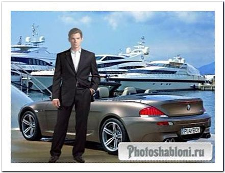 Мужской шаблон для фотомонтажа - Деловой мужчина, бизнесмен