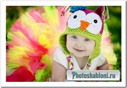 Шаблон для фотошопа - Миленькая модница