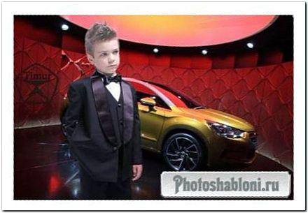 Детский шаблон для фотошопа - Спецагент