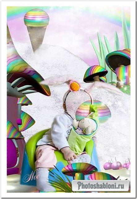 Шаблон для фото - Сказочная страна детства