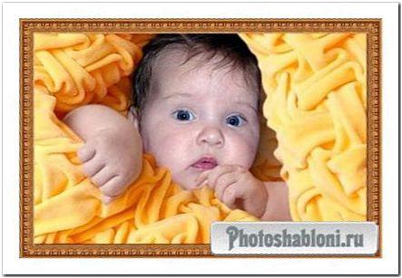 Детский шаблон для фотошопа - Разбудили