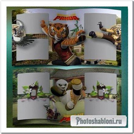 Фотокнига для детей - Персонажи мультфильма Кунг фу Панда, Воин дракона
