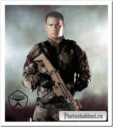 Мужской шаблон для фотошопа - Воин