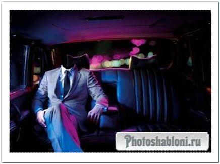 Шаблон для мужчин - Прогулка вечерняя на машине по яркому городу