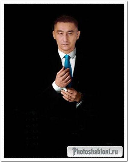 Стильный мужской шаблон для фотомонтажа - Мистер в черном