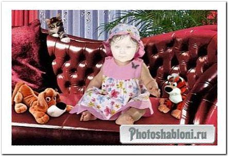 Детский шаблон для фотошопа - Будем знакомы