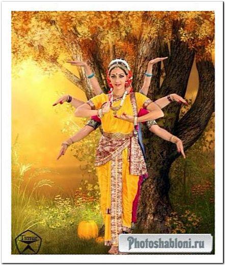 Женский шаблон для фотошопа - Богиня танца