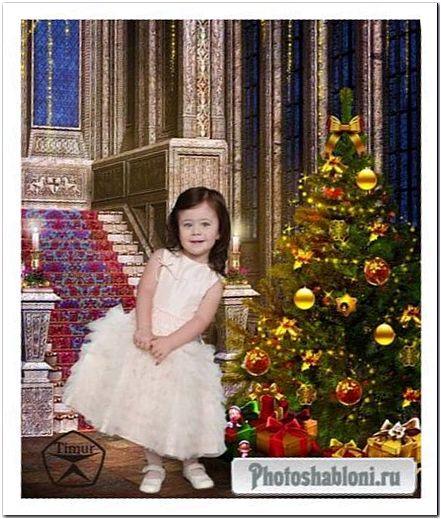 Детский шаблон - Новый год к нам идет и все хорошее несет