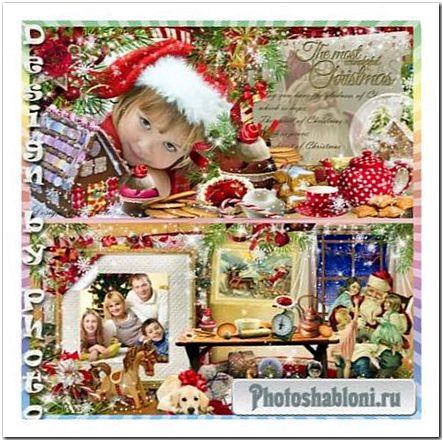 Рождественский фотоальбом для семьи - У Санта Клауса в гостях